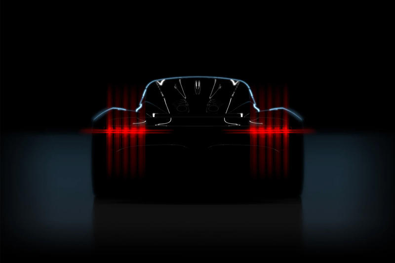 """Aston Martin Announces Hypercar """"Project 003"""" Valkyrie Valkyrie AMR Pro gas-electric hybrid lightweight structure aero active suspension"""
