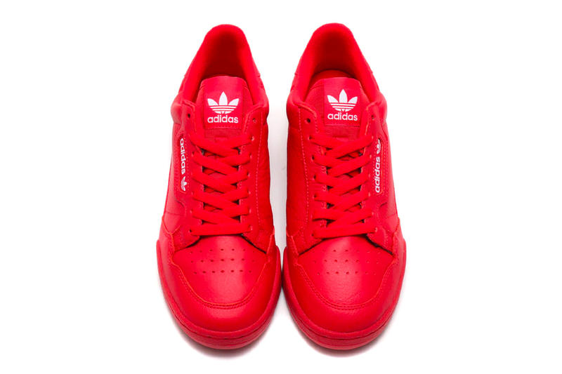 """adidas Contintental 80 """"Scarlet"""" atmos Exclusive release info drop price stockist february 23 $80 leather red three stripes 3 treefoil"""