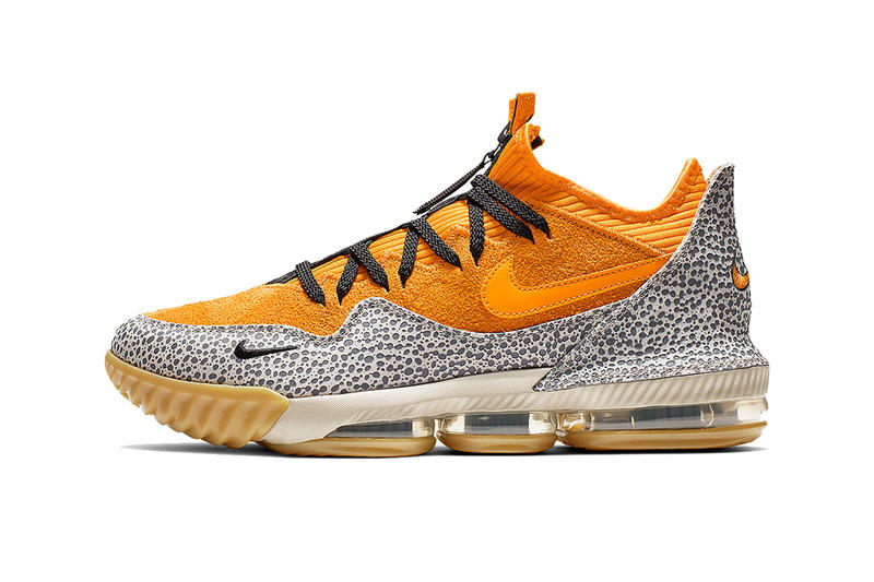 best service d26dc 95641 atmos nike lebron 16 low safari 2019 march nike basketball footwear