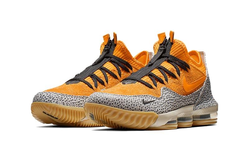 atmos nike lebron 16 low safari 2019 march nike basketball footwear
