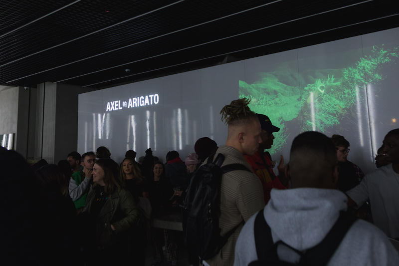 Axel Arigato London Demo Runner Launch Party Kida Kudz DJ Iamnext Jamo Beatz Sneaker