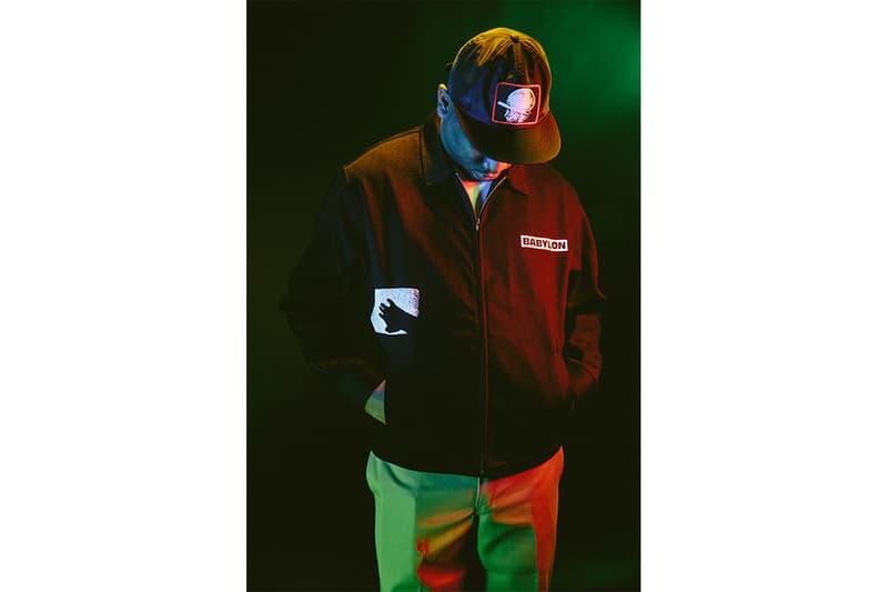 Babylon LA FW18 Drop Two Lookbook los angeles made in LA zac ftp germ workwear streetwear custom heavyweight cut & sew utility vest, work jacket & over-dyed ripstop cargos