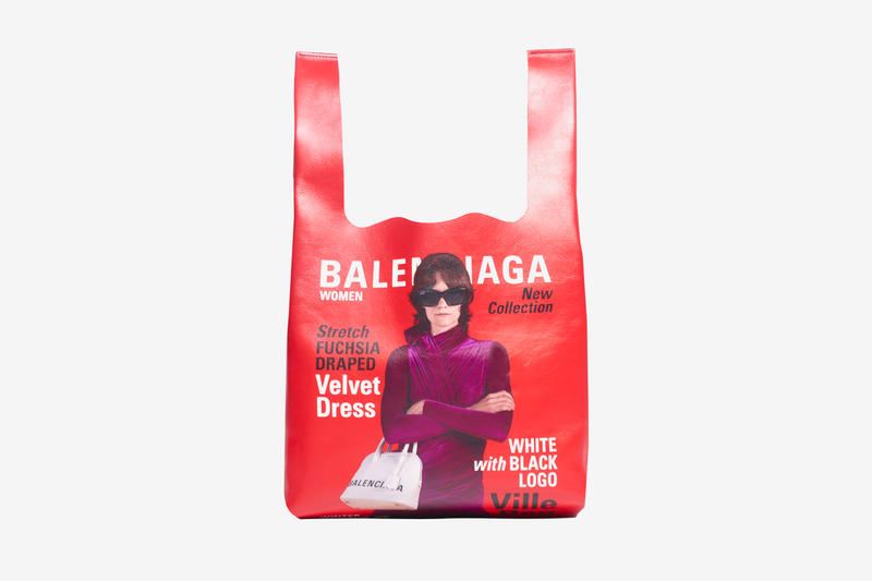 Balenciaga Campaign Super Market Tote Release Info two-toned red blue calfskin leather 5788321CYBN6064 made in Italy
