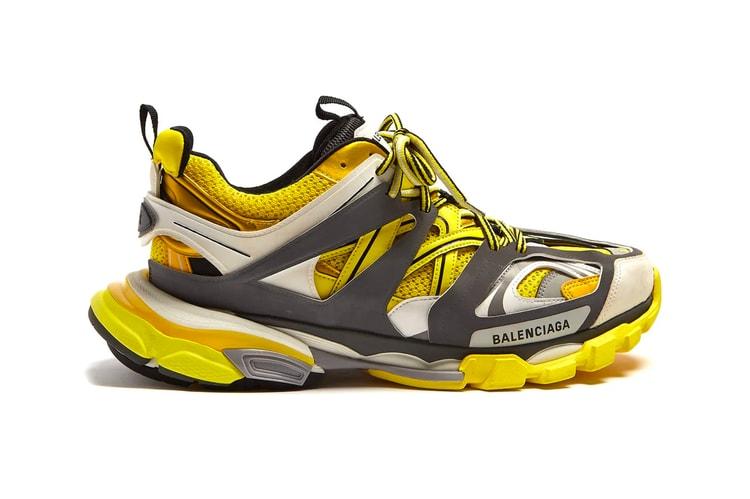 e7b02609d850 Balenciaga s TRACK Sneaker Receives a Bold Yellow Treatment