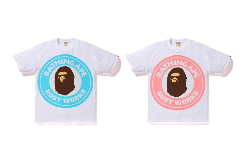 "BAPE ""Busy Works Store"" Collection a bathing ape clothes shirt t-shirt clocks frisbee rugs rubber coaster"