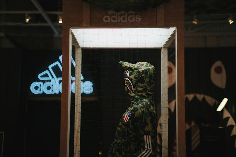 BAPE adidas 2019 february pop up atlanta georgia fashion footwear equipement super bowl 53