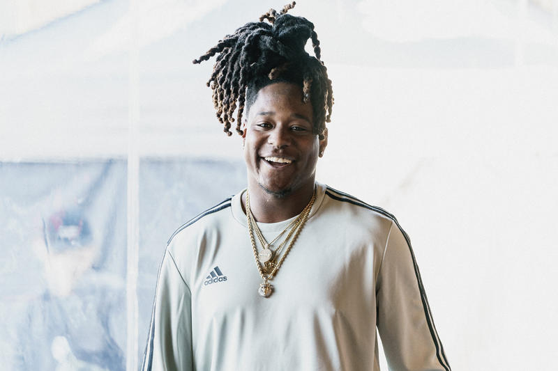 Quavo Alvin Kamara Emmanuel Sanders Shaquill Griffin adidas football a bathing ape BAPE high school football game 7 on versus seven booker t washington high school atlanta