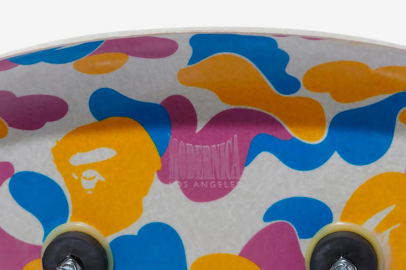 BAPE &  Modernica Drop LA Exclusive Capsule a bathing ape Fiber Shell Chair side table cotton candy camo ape head print
