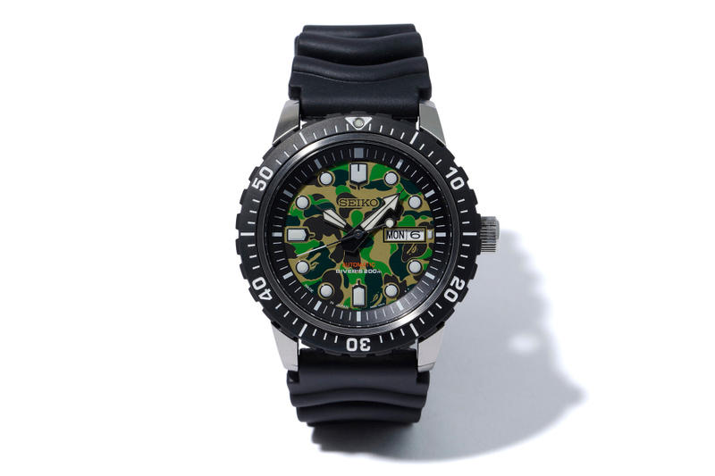 BAPE Seiko Mechanical Divers Watch a bathing ape green abc camo