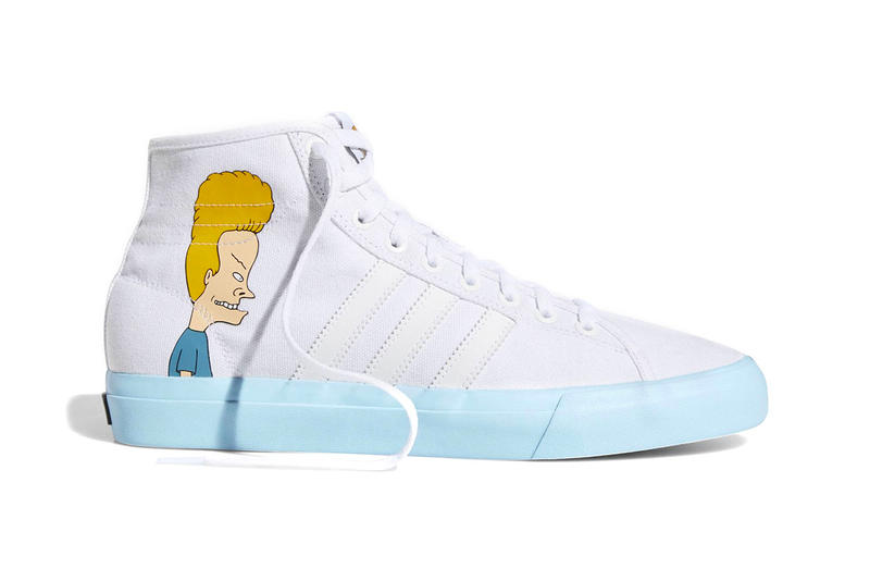 Beavis and Butt-Head adidas Matchcourt Hi Release Mike Judge White Blue DB3379 mtv cartoons