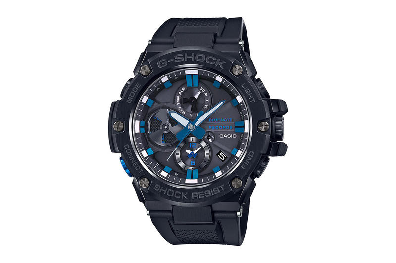 g-shock blue note g steel watch timepiece release date info buy march colorway collaboration GSTB100BNR-1A anniversary 80 model