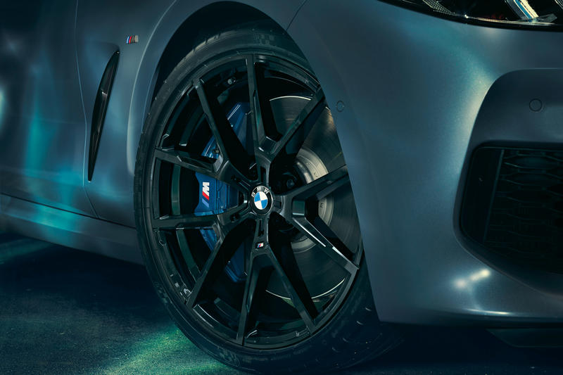 BMW m850i xdrive coupe first edition launch frozen barcelona blue
