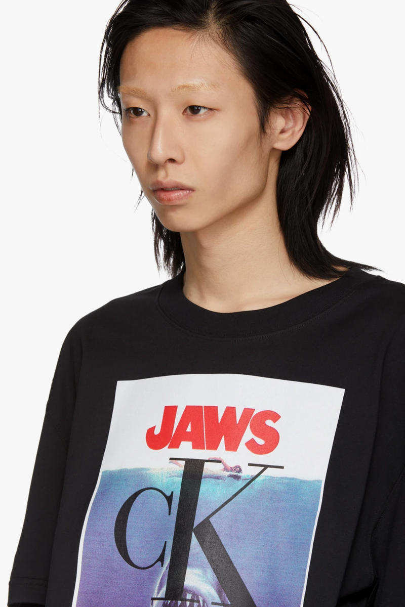 Calvin Klein 205w39nyc Jaws Movie Poster T-Shirt Release JAWs SSENSE retailer online shopping new york