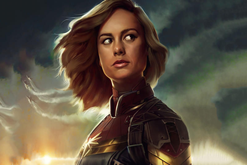 'Captain Marvel' Exclusive Marvel Studios Posters brie larson marvel cinematic universe movies films avengers endgame