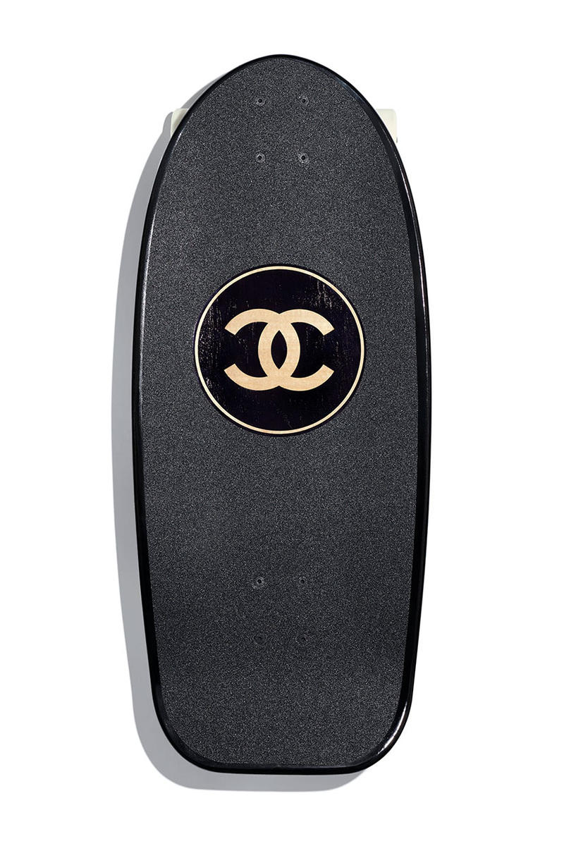 Chanel Drops Lush SS19 Surfboard Skate Deck spring summer 2019 release date info buy accessories double c logo karl lagerfeld