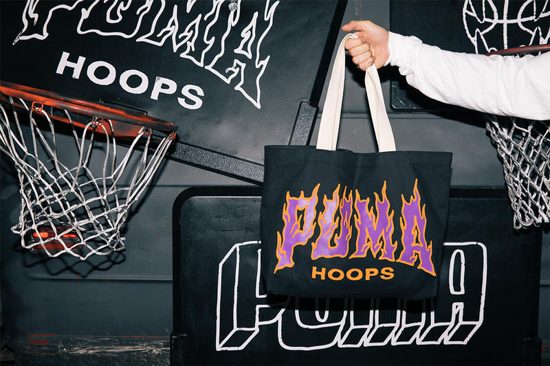 Chinatown Market x Puma Hoops NBA All-Star weekend Collab collaboration puma lab footlocker exhibition pop-up charlotte t-shirts hoodies tote bags hats mad max van