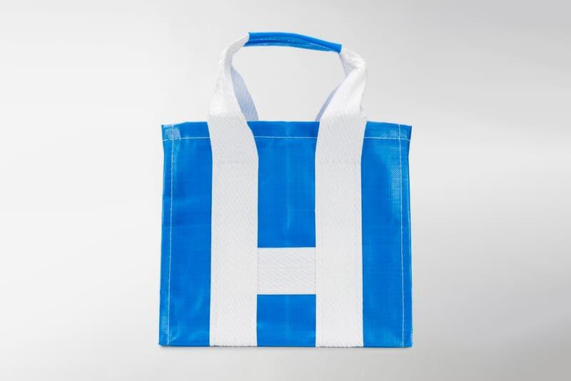 COMME des GARÇONS SHIRT Shopper Tote Bags S276123 S276121 blue yellow white ikea