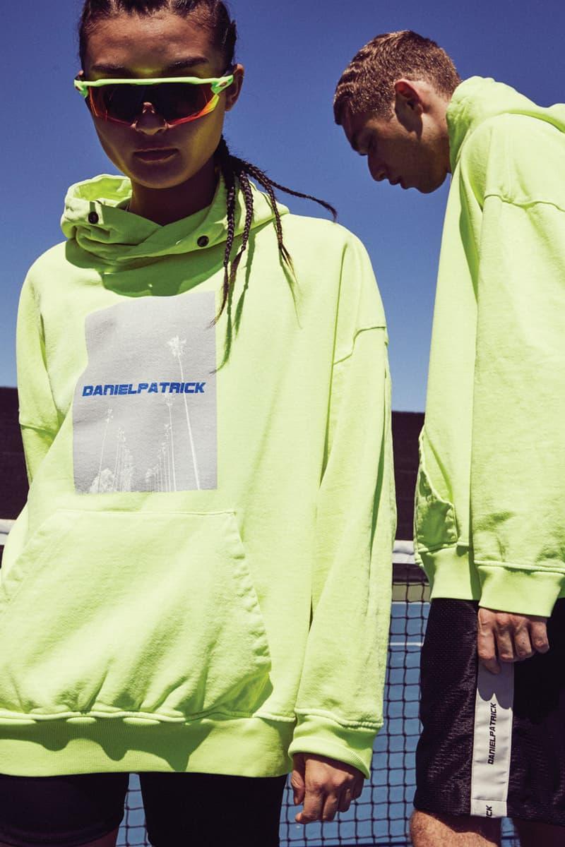 Daniel Patrick Spring Summer 2019 Lookbook colorblock neon coral citrus lime cobalt red streetwear activewear staples