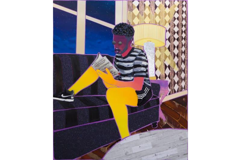 devan shimoyama artworks exhibition de buck gallery paintings