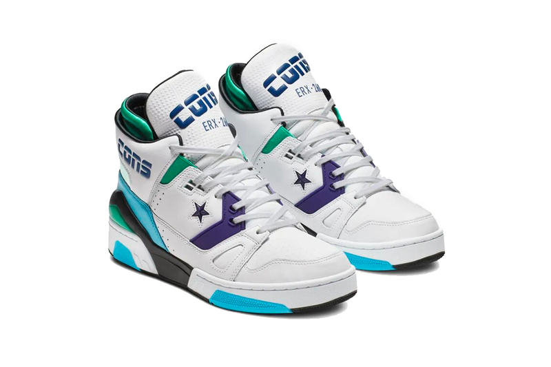 don c converse erx 260 charlotte hornets 2019 february jewel white footwear purple teal blue black all star weekend