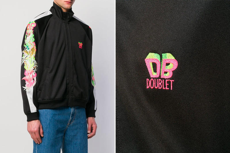 Doublet Black Chaos Embroidery Jacket Release Info Date White Red Yellow Pink
