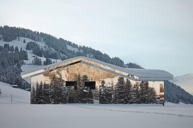 Doug Aitken Mirage GSTAAD architecture buildings mirror houses homes