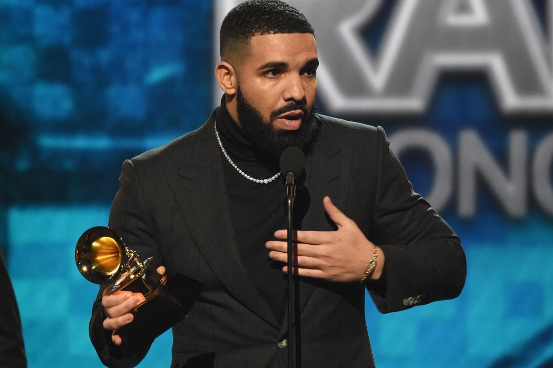 Drake Wins Best Rap Song Grammy Acceptance Speech Cut Hypebeast