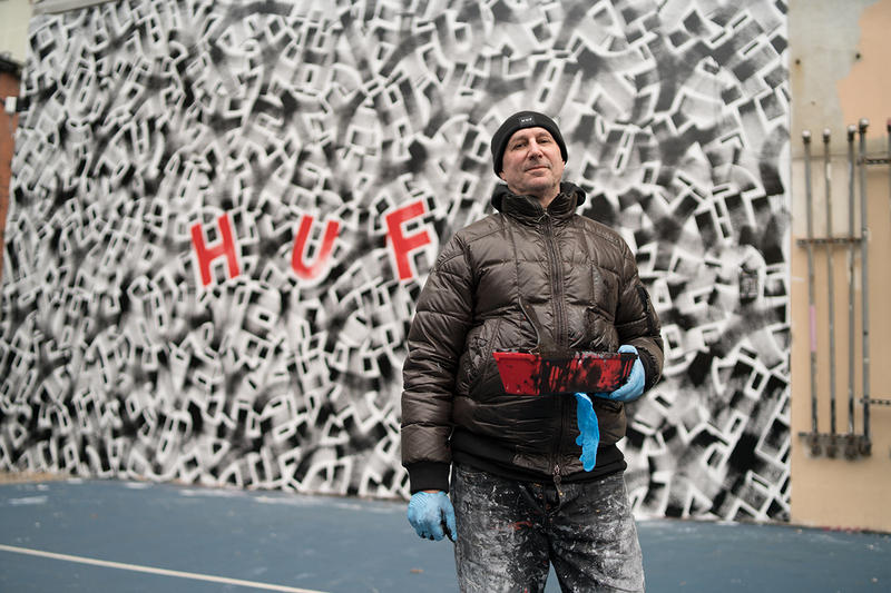 HUF Taps Artist Eric Haze For NYC Mural collaboration spring/summer 2019 art artworks painting street art graffiti Stoked non-profit