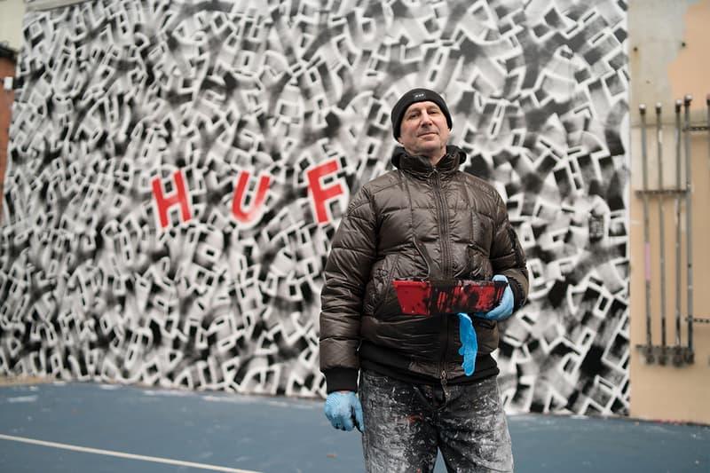 HUF Taps Artist Eric Haze For NYC Mural collaboration spring/summer 2019 art artworks painting street art graffiti Stoked non-profit