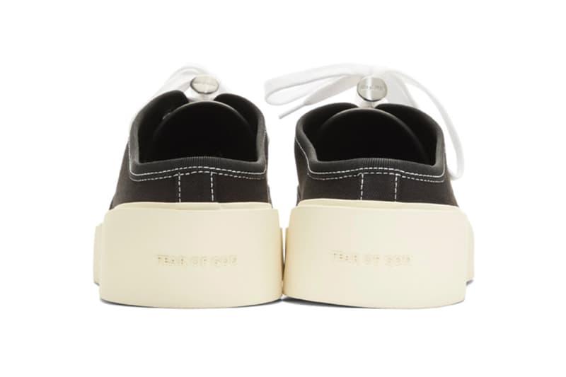 Fear Of God Black Backless Sneaker Release shoe jerry lorenzo fashion canvas shoe black fog