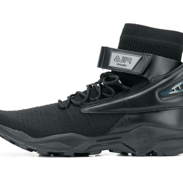 FILA Triple Black Hi-Top Sneakers