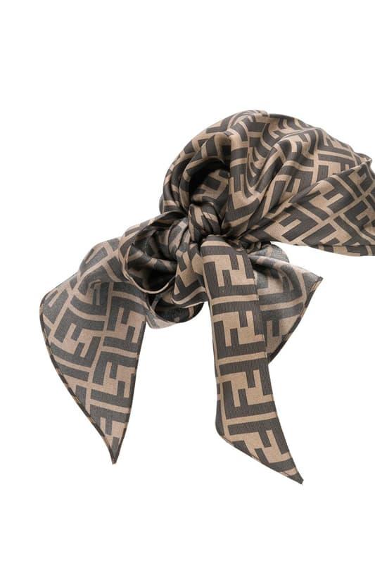 Fendi Zucca Bandana Hat Release Info Babushka Black Brown Monogram F