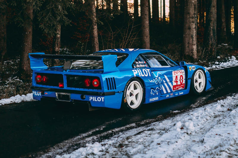Ferrari 1987 F40 LM French Racing Blue RM Sothebys Auction