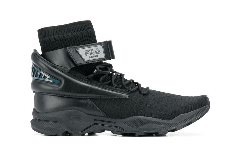 "FILA's Latest High-Top Silhouette Gets a ""Triple Black"" Makeover images release drop date info price farfetch footwear"