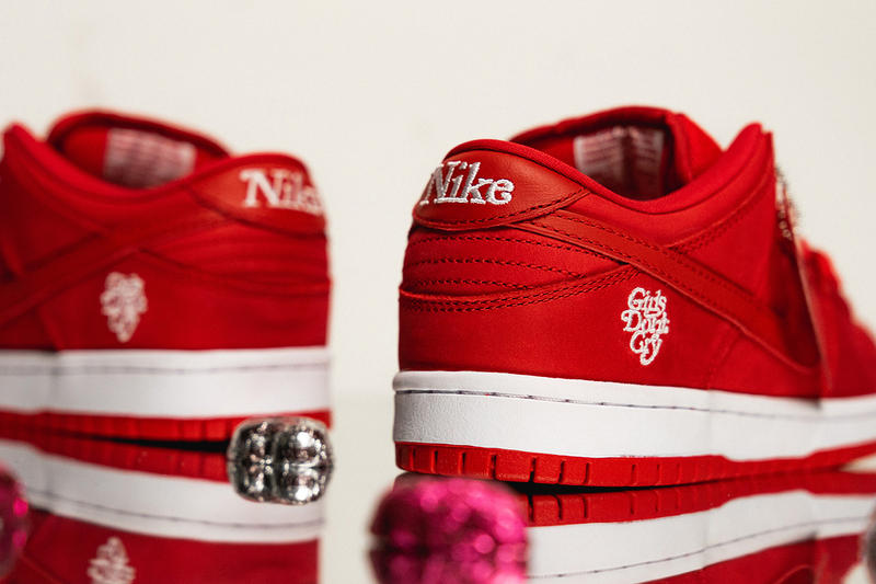 girls dont cry nike sb dunk low 2019 february footwear red white