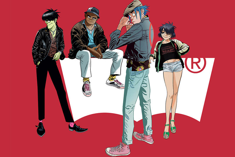 Gorillaz x Levi's Spring/Summer 2019 First Look Fashion Clothing Cop Purchase Buy Collab Collaboration Interview Murdoc Niccals 2D Russel Hobbs Noodle
