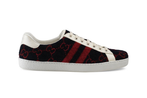 Gucci Updates Ace Sneaker With Monogrammed 'GG' Wool
