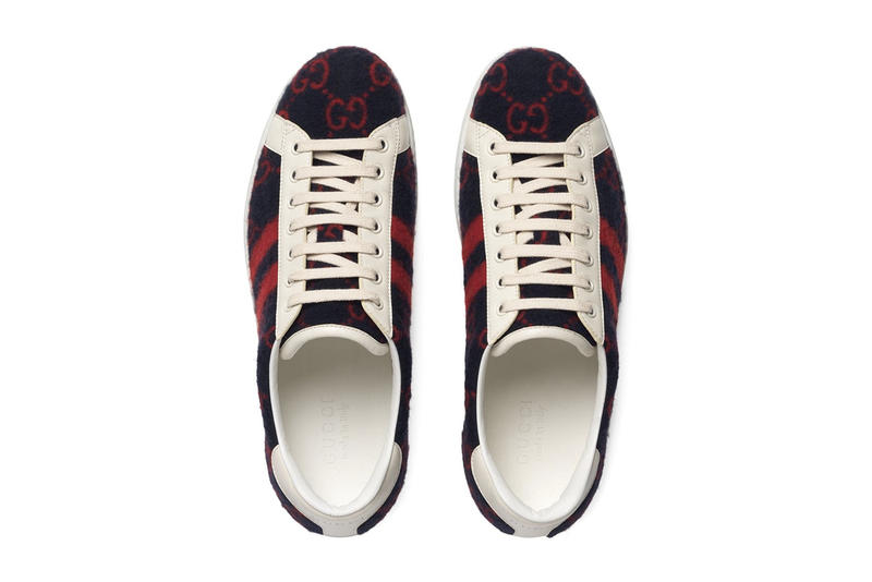 Gucci Ace Sneaker GG Wool Farfetch Drop Release First Look Date Cop Purchase Buy