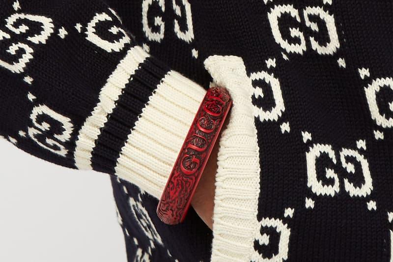 Gucci Dragon Engraved Bangle Release accessories color bracelet italian luxury