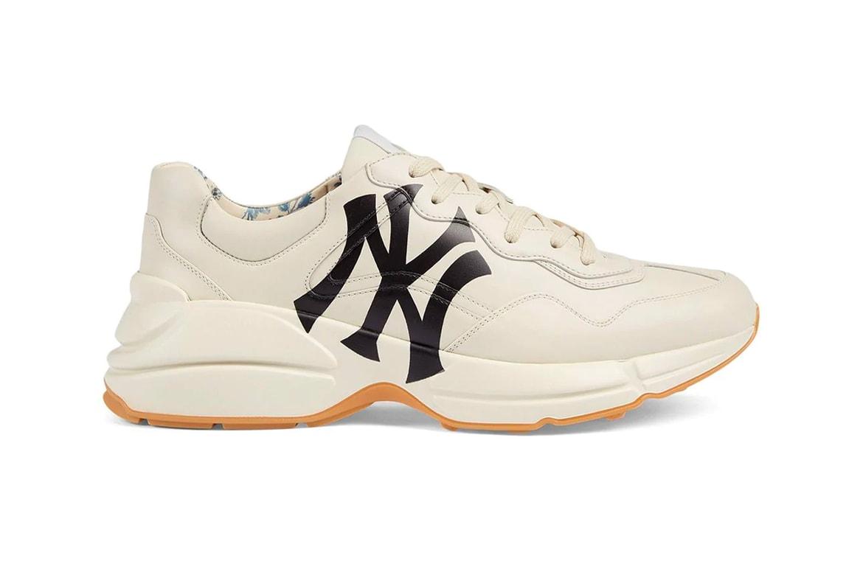 b08320179 Gucci Rhyton Sneaker Receives NY Yankees Print   HYPEBEAST