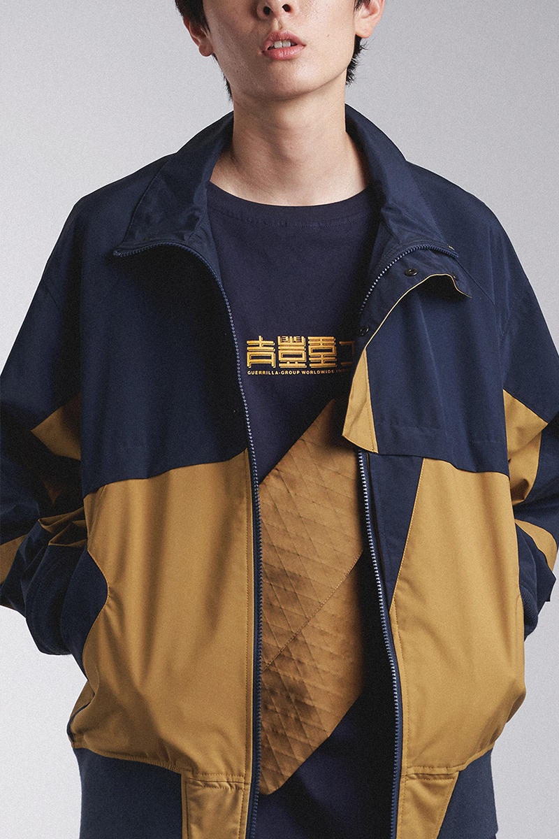 """Guerrilla Group SS19 """"ROAD FIGHTER"""" Lookbook collection techwear ECCO transluscent apparition leather X-pac aprons outerwear jackets parkas ROAD FIGHTER"""