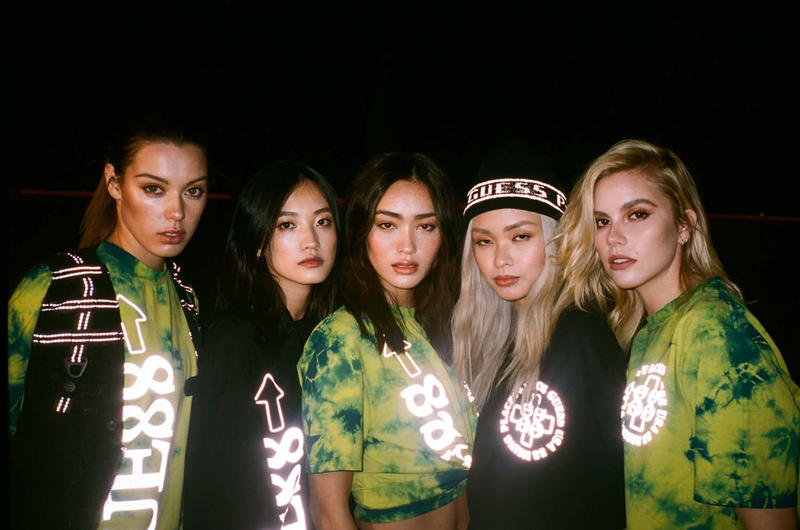 ntwrk guess jeans places faces 88rising capsule collection t shirt line february 2019 spring summer short sleeve long buy cost price tie dye yellow black