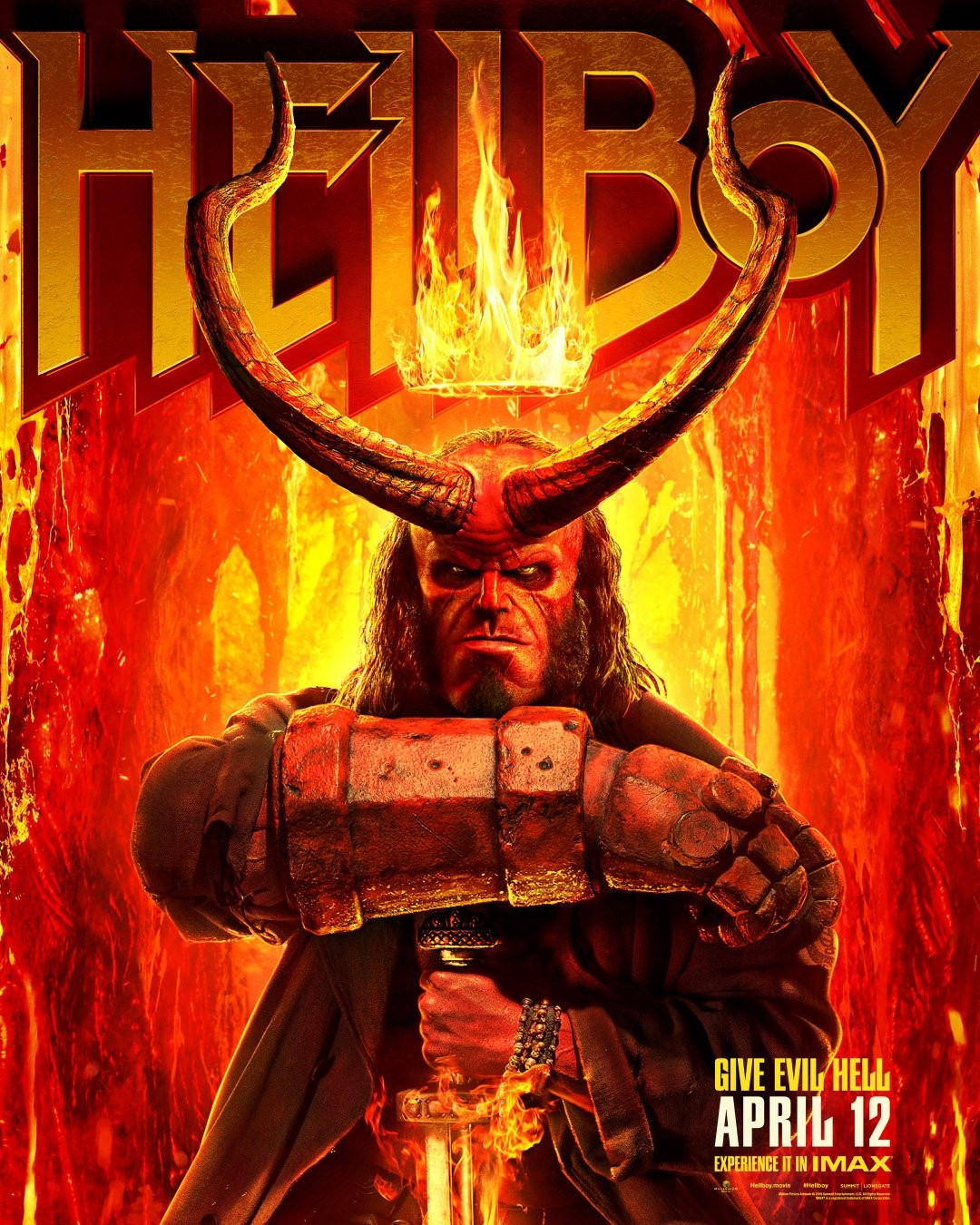 David Harbour's 'Hellboy' Gets a Second Trailer milla jocovich ian mcshane guillermo del toro lionsgate comic comicbook superhero red devil guy with huge arm