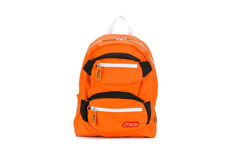 Heron Preston Orange Pocketed Backpack Release Info Date Bag black white