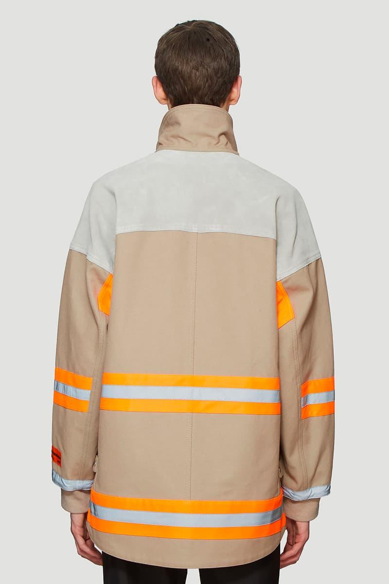 Heron Preston Canvas Fireman Jacket Release fashion grey LN-CC