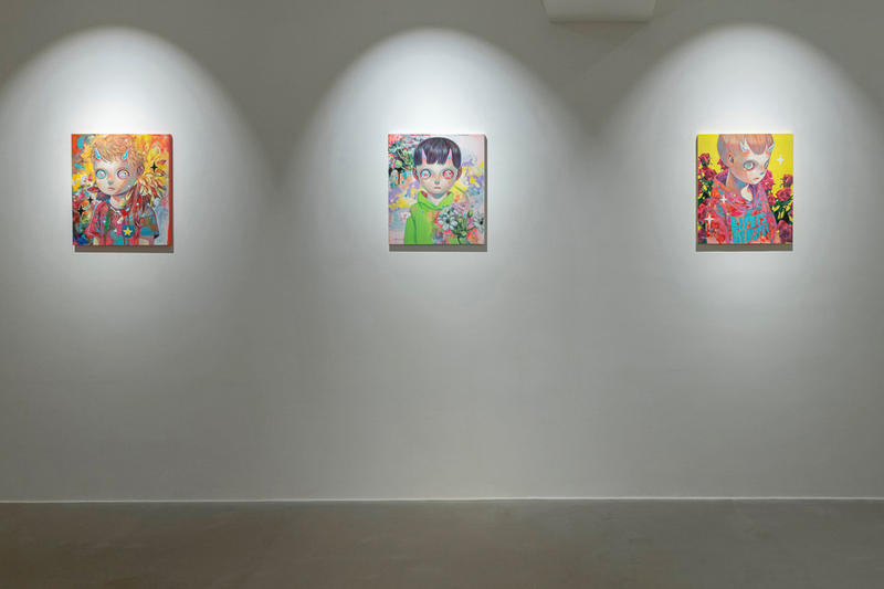 hikari shimoda over the influence los angeles exhibition paintings artworks