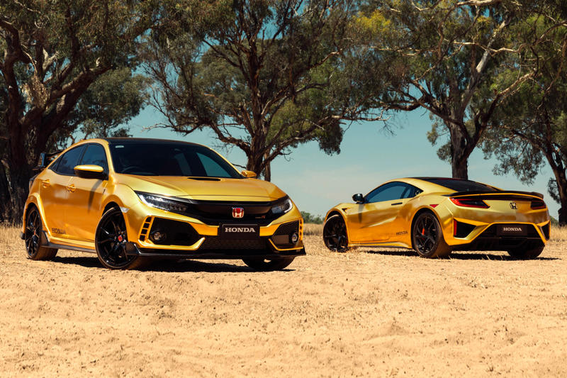 Honda 50th Anniversary Australia Gold NSX racing lawnmower gold wraps Type R Honda Civic