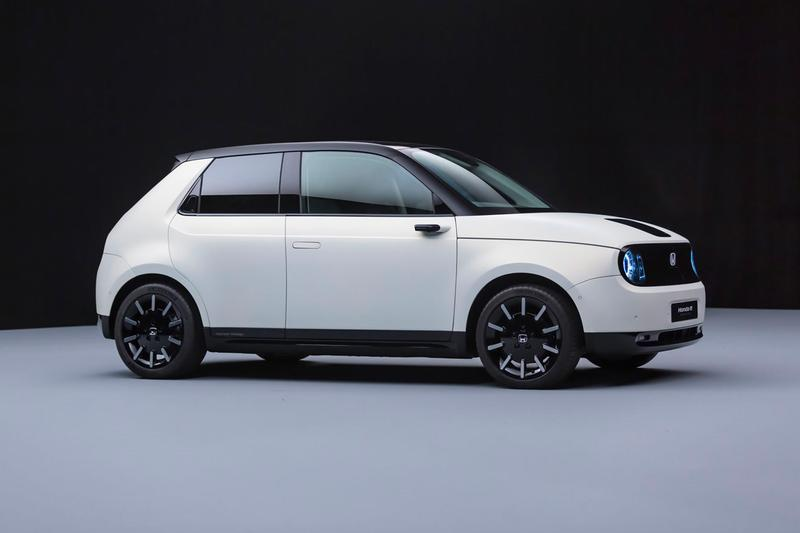 Honda E Prototype First Look White Full electric vehicle Geneva Motor Show Urban EV Black electric vehicle Japan JDM Concept