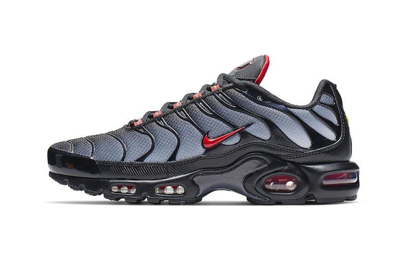 air max plus red black
