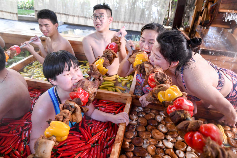 chinese new year human hot pot first world hotel hangzhou Zhejiang china